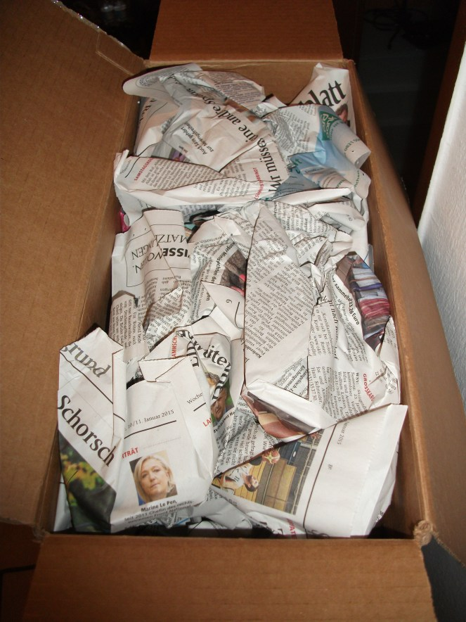 Zeitungspapier verhindert ein hinundher-rutschen